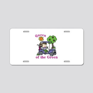 Queen of the Green Aluminum License Plate