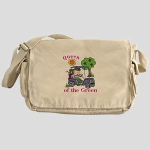 Queen of the Green Messenger Bag
