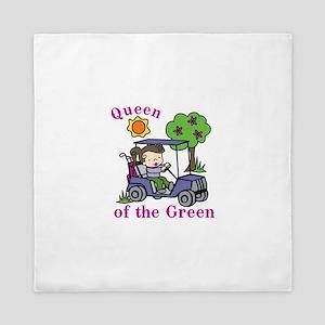 Queen of the Green Queen Duvet