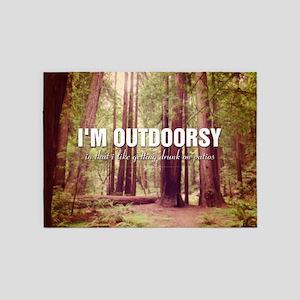 I'm Outdoorsy In That I Like Gettin 5'x7'Area Rug