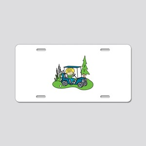 Cart on the Green Aluminum License Plate