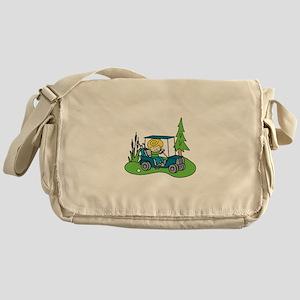 Cart on the Green Messenger Bag