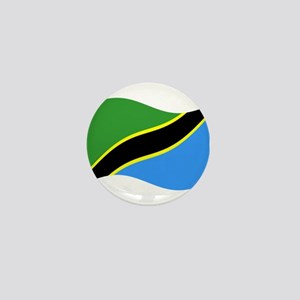 Waving Tanzaznia Flag Mini Button
