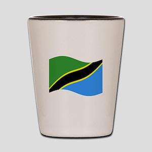Waving Tanzaznia Flag Shot Glass