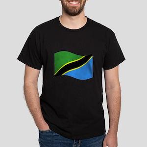 Waving Tanzaznia Flag T-Shirt