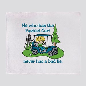 Fastest Cart Throw Blanket