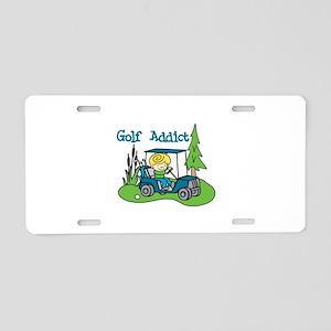 Golf Addict Aluminum License Plate