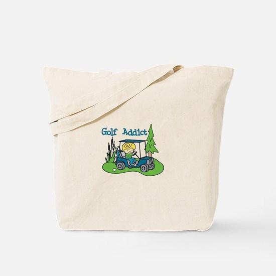 Golf Addict Tote Bag