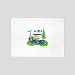 Golf Addict 5'x7'Area Rug