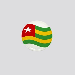 Waving Togo Flag Mini Button