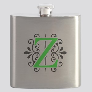 MONOGRAM Z FLORESCENT GREEN & BLACK Flask