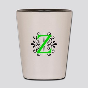 MONOGRAM Z FLORESCENT GREEN & BLACK Shot Glass
