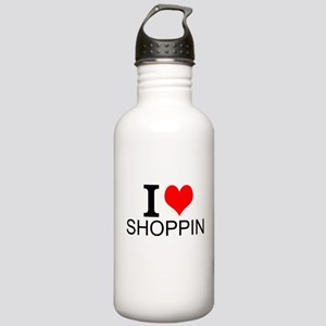 I Love Shopping Water Bottle