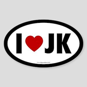 I (Heart) JK Oval Sticker