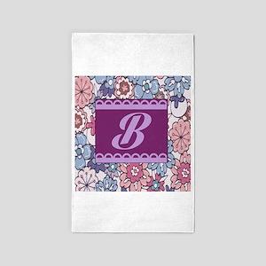 Monogram B Design 3'x5' Area Rug