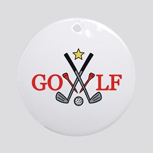 Golf Sport Ornament (Round)