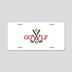 Golf Sport Aluminum License Plate