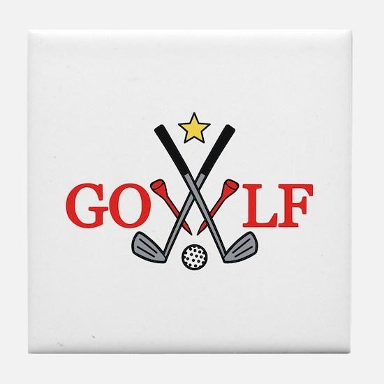 Golf Sport Tile Coaster