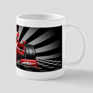 Formula 1 Red Race Car Mugs