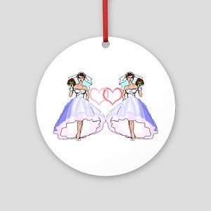 Lesbian Wedding 4 Ornament (Round)