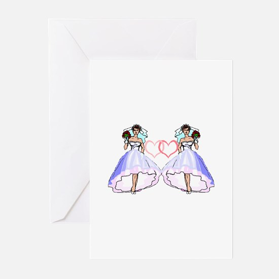 Lesbian Wedding 4 Greeting Cards (Pk of 10)