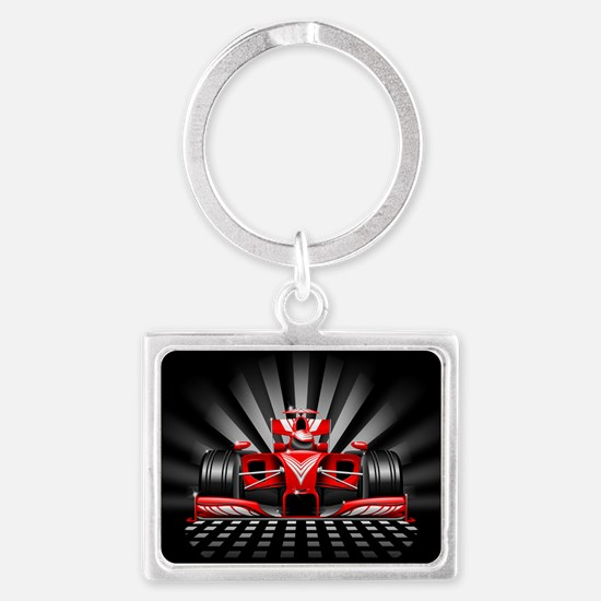 Formula 1 Red Race Car Keychains