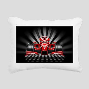 Formula 1 Red Race Car Rectangular Canvas Pillow