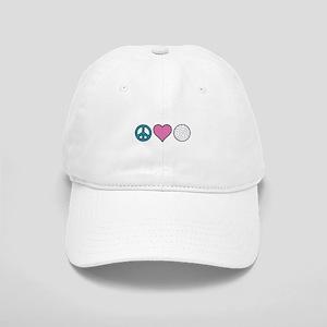 Peace Heart Golf Baseball Cap