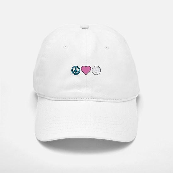 Peace Heart Golf Baseball Baseball Baseball Cap