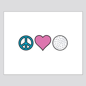 Peace Heart Golf Posters