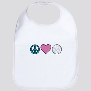 Peace Heart Golf Bib