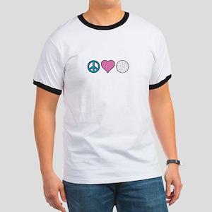 Peace Heart Golf T-Shirt