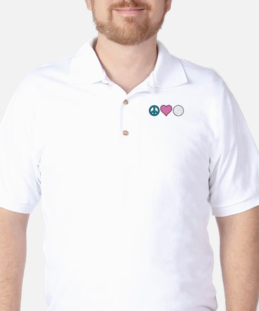 Peace Heart Golf Golf Shirt