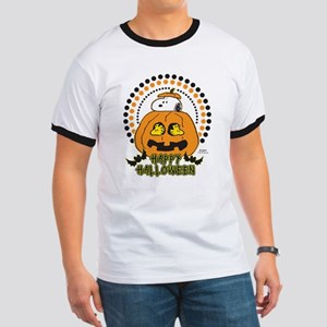Snoopy and Woodstock Pumpkin Ringer T
