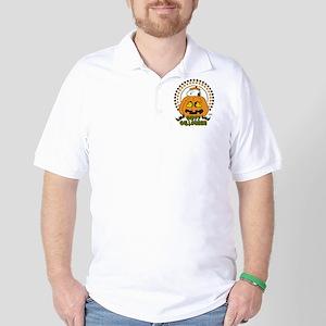 Snoopy and Woodstock Pumpkin Golf Shirt