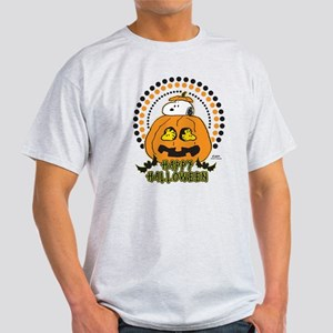 Snoopy and Woodstock Pumpkin Light T-Shirt