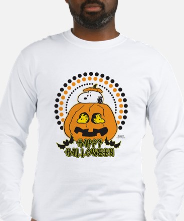 Snoopy and Woodstock Pumpkin Long Sleeve T-Shirt