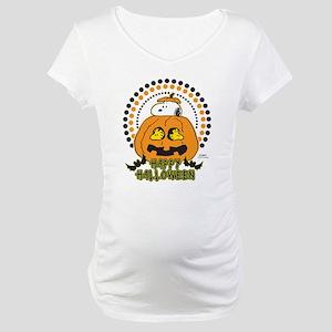 Snoopy and Woodstock Pumpkin Maternity T-Shirt