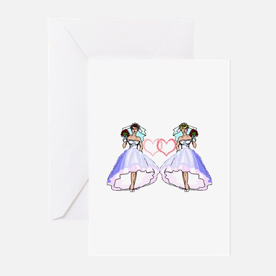 Lesbian Wedding 5 Greeting Cards (Pk of 10)