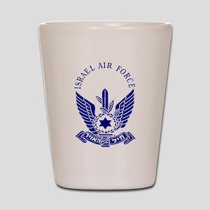 Israel Air Force Blue Shot Glass