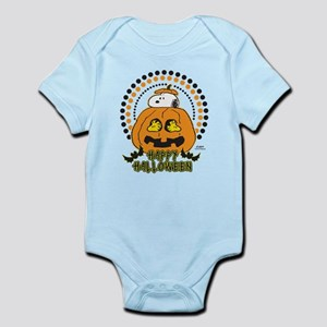 Snoopy and Woodstock Pumpkin Infant Bodysuit