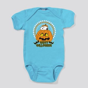 Snoopy and Woodstock Pumpkin Baby Bodysuit