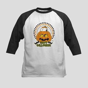Snoopy and Woodstock Pumpkin Kids Baseball Jersey