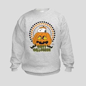 Snoopy and Woodstock Pumpkin Kids Sweatshirt
