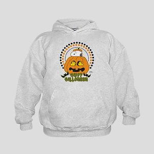 Snoopy and Woodstock Pumpkin Kids Hoodie