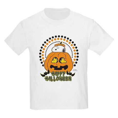 Snoopy and Woodstock Pumpkin Kids Light T-Shirt