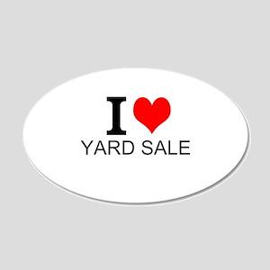 I Love Yard Sales Wall Decal