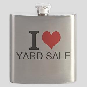 I Love Yard Sales Flask