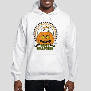 Snoopy and Woodstock Pumpkin Hooded Sweatshirt