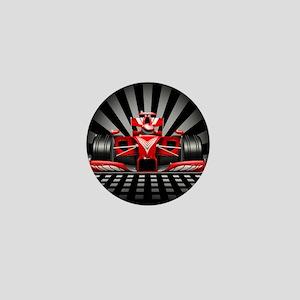 Formula 1 Red Race Car Mini Button